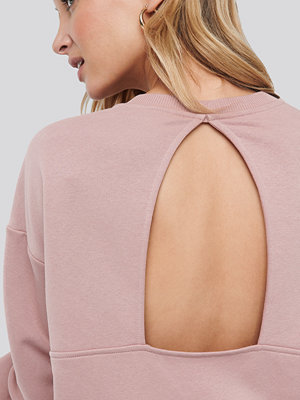 NA-KD Trend Cut Out Oversized Sweatshirt rosa