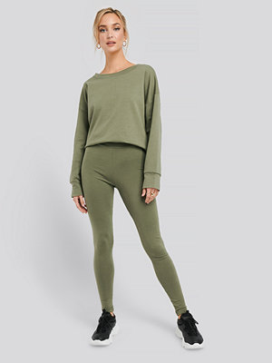 NA-KD Basic Basic Highwaist Leggings grön