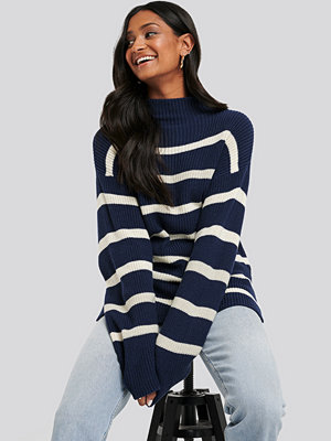 NA-KD High Neck Striped Knitted Sweater multicolor