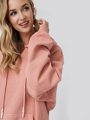 NA-KD Trend Washed Oversized Hoodie rosa