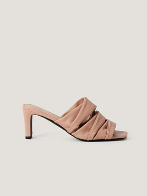 NA-KD Shoes Layered Upper Mules rosa