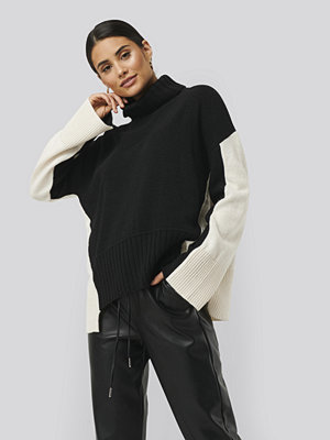 NA-KD Wool Blend Oversized Colour Block Sweater multicolor
