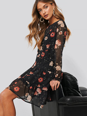 NA-KD Flower Print Mesh Mini Dress multicolor