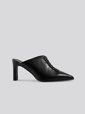 Pumps & klackskor - NA-KD Shoes Pointy Lace Up Mules svart