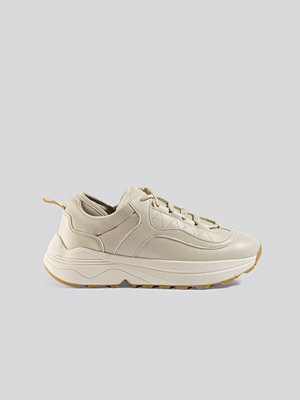 NA-KD Shoes Rounded Chunky Trainers beige