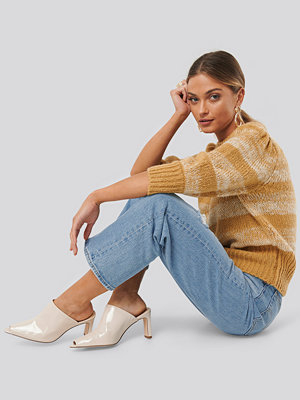 NA-KD Shoes Open Toe Mules beige