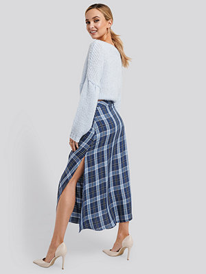 NA-KD Trend High Waist Side Split Midi Skirt multicolor