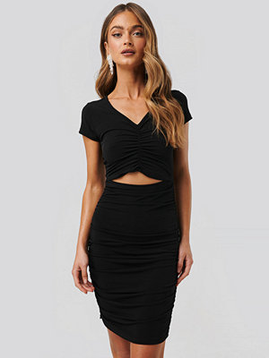 NA-KD Party Gathered Jersey Dress svart