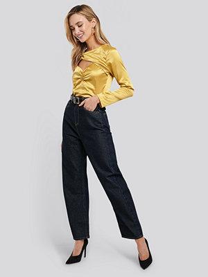 NA-KD Trend High Waist Oversized Jeans blå