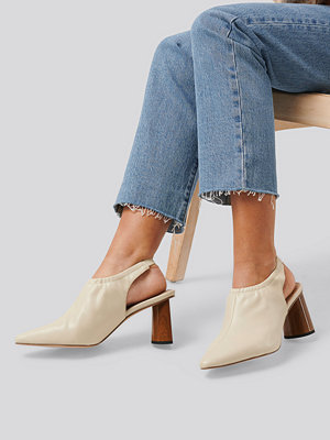 NA-KD Shoes High Vamp Slingback Pumps beige