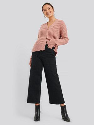 Abrand A Street Aline Crop Jeans svart