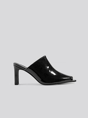 NA-KD Shoes Open Toe Mules svart