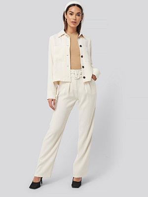 Rut & Circle vita byxor Nina Straight Pant beige