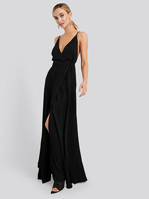 Mango Longus Midi Dress svart