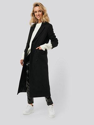 Monica Geuze x NA-KD Classic Maxi Coat svart