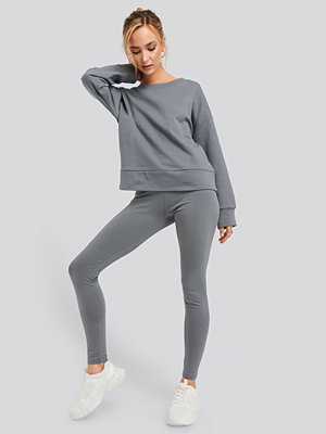 NA-KD Basic Leggings grå