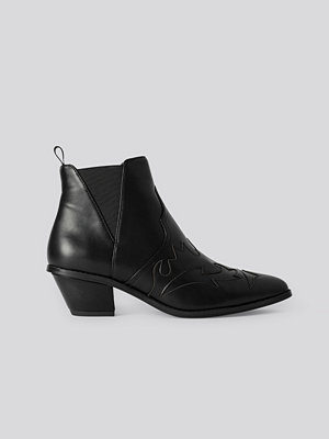 NA-KD Shoes Ankle Cowboy Bootie svart