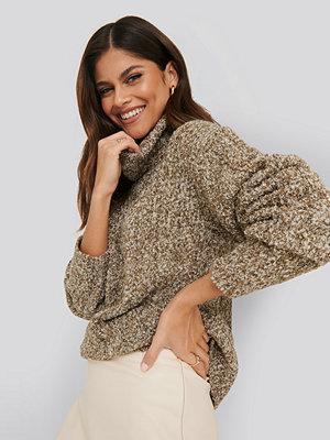 NA-KD Trend Melange Knitted Sweater beige