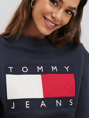 Tommy Jeans Tommy Flag Crew blå