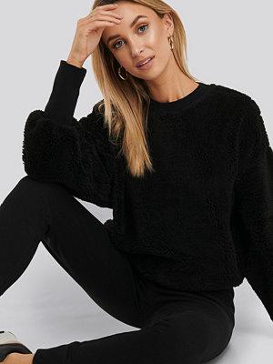 NA-KD Oversized Teddy Sweatshirt svart