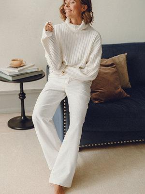 Tina Maria x NA-KD vita byxor Wide Suit Pants vit