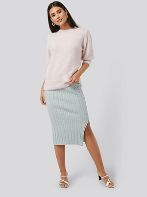 NA-KD Trend Knitted Pencil Skirt blå