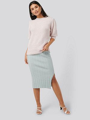 NA-KD Trend Knitted Pencil Skirt blå