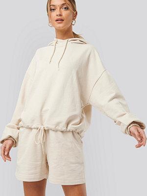 NA-KD Trend Oversized Drawcord Hoodie beige
