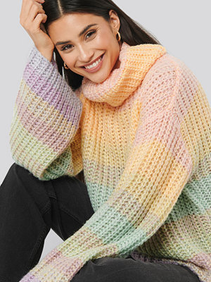 Tröjor - NA-KD Trend Wide Sleeve Cable Knitted Sweater multicolor