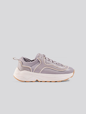 NA-KD Shoes Rounded Chunky Trainers lila