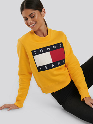 Tommy Jeans Tommy Flag Crew gul