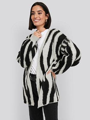 NA-KD Trend Zebra Printed Oversized Cardigan multicolor