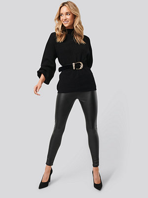 Trendyol Faux Leather Leggings svart