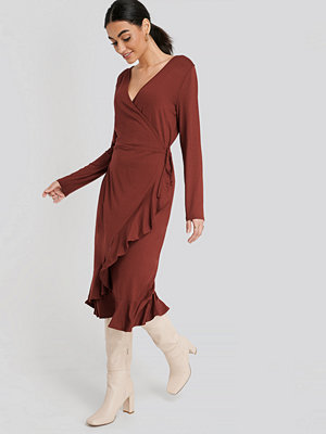 Trendyol Wrap Knitted Dress röd
