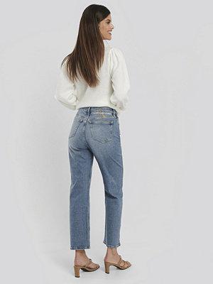 Calvin Klein 030 High Rise Straight Ankle Jeans blå