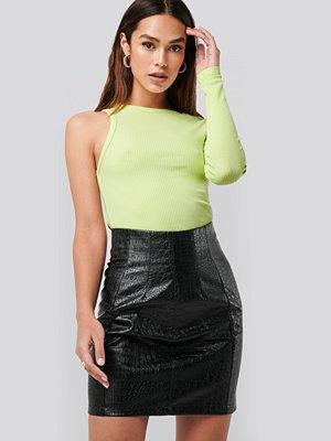 NA-KD Trend PU Reptile Mini Skirt svart