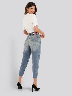 Tommy Jeans Mom High Rise Tapered Iron Mid Jeans blå