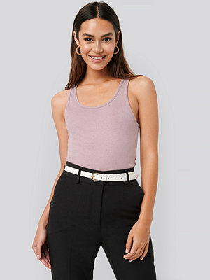 NA-KD Basic Ribbed Tank Top rosa