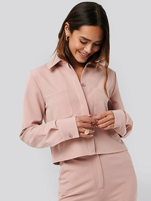 NA-KD Trend Short Pocket Shirt rosa