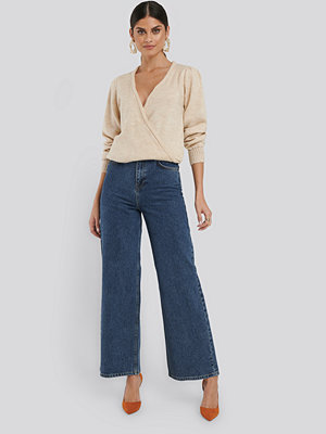 Jeans - NA-KD Trend Wide Leg High Waisted Jeans blå