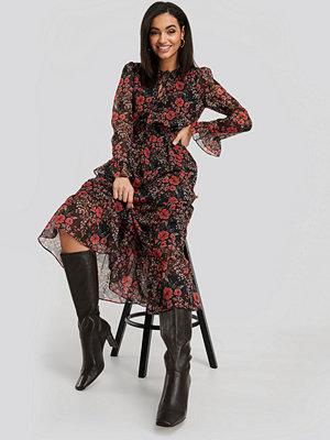NA-KD Chiffon Maxi Dress multicolor
