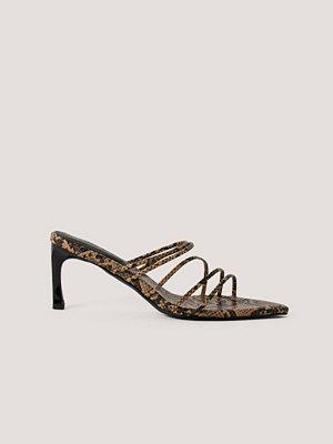 Pumps & klackskor - NA-KD Shoes Strappy Pointy Sandals multicolor