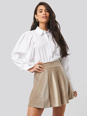 Trendyol Velvet Knitted Skirt beige