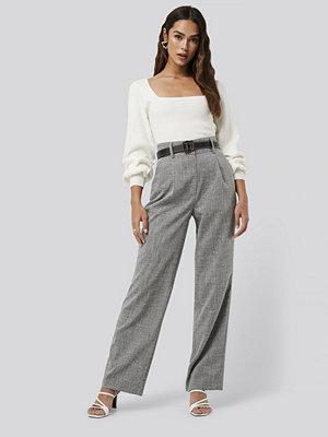 NA-KD Classic Relaxed Suit Trousers grå byxor