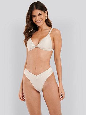 NA-KD Swimwear Ribbed V shape Bikini Bottom vit