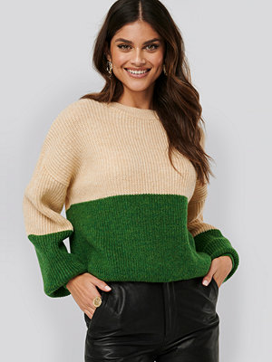 NA-KD Color Blocked Knitted Sweater multicolor