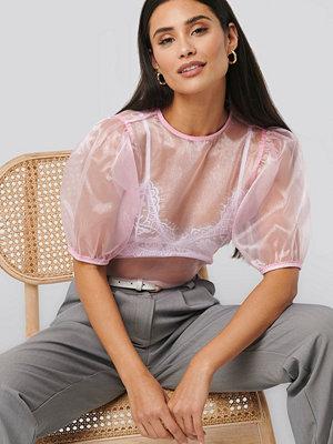 NA-KD Trend Puff Sleeve Blouse rosa