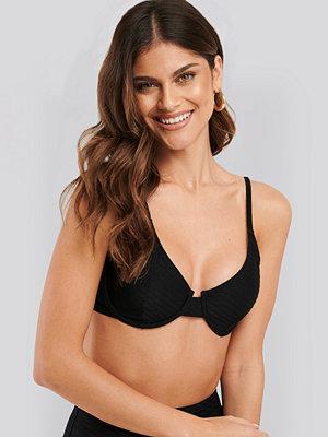 NA-KD Swimwear Structured Bikini Cup Bra svart