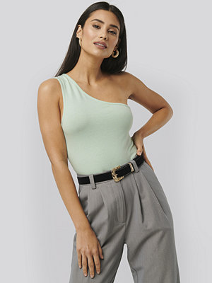 NA-KD Trend Asymmetric Jersey Body grön