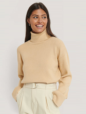 AFJ x NA-KD High Neck Knitted Sweater beige